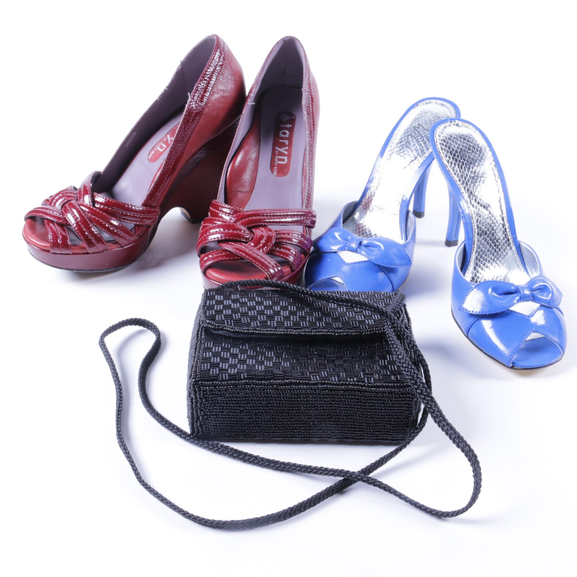Women's Heels and Magid Beaded Handbag