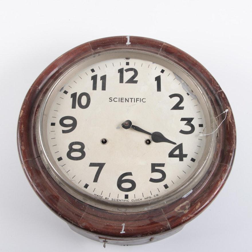 Vintage School Wall Clock By Scientific Clock