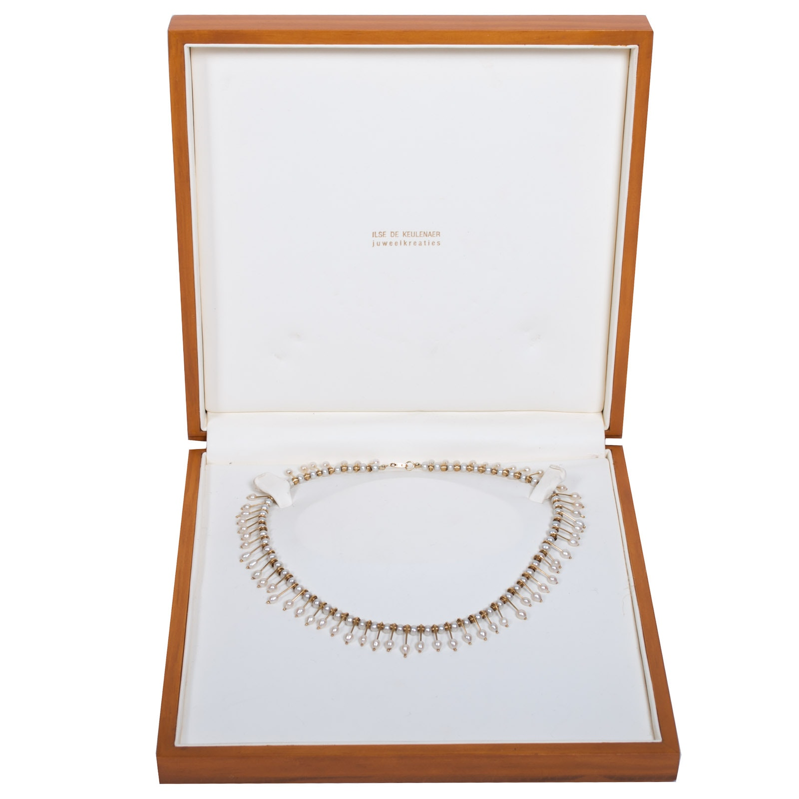 Ilse de Keulenaer 18K Yellow Gold and Cultured Pearl Collar Necklace