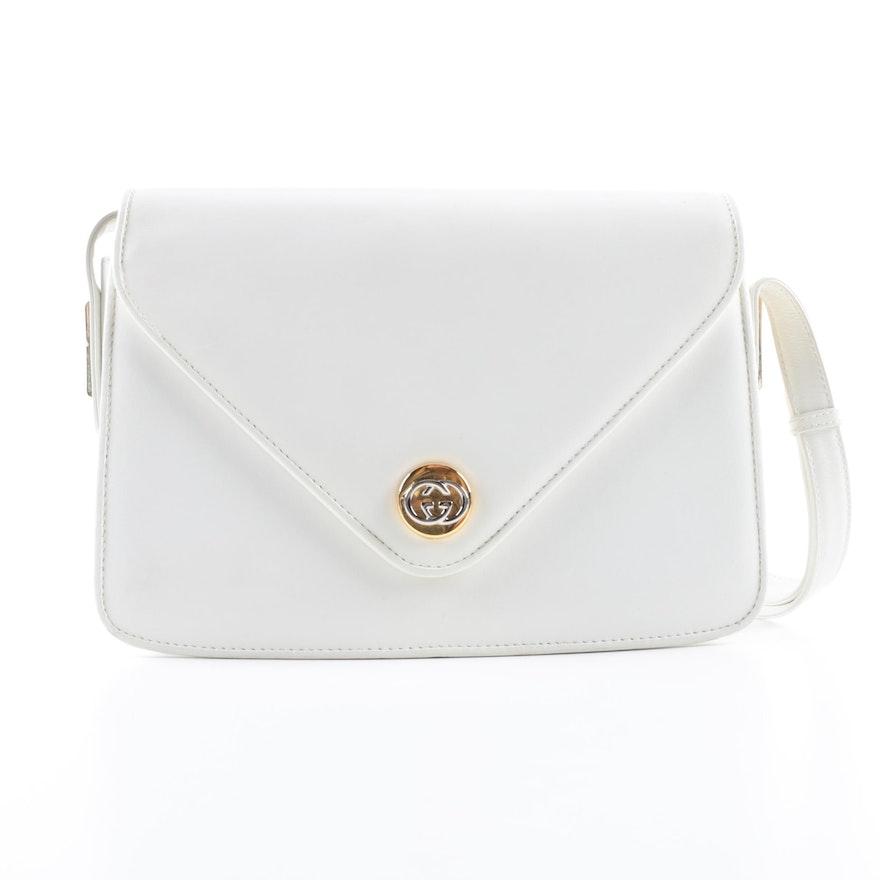 6791f8b342b Vintage Gucci White Leather Handbag   EBTH