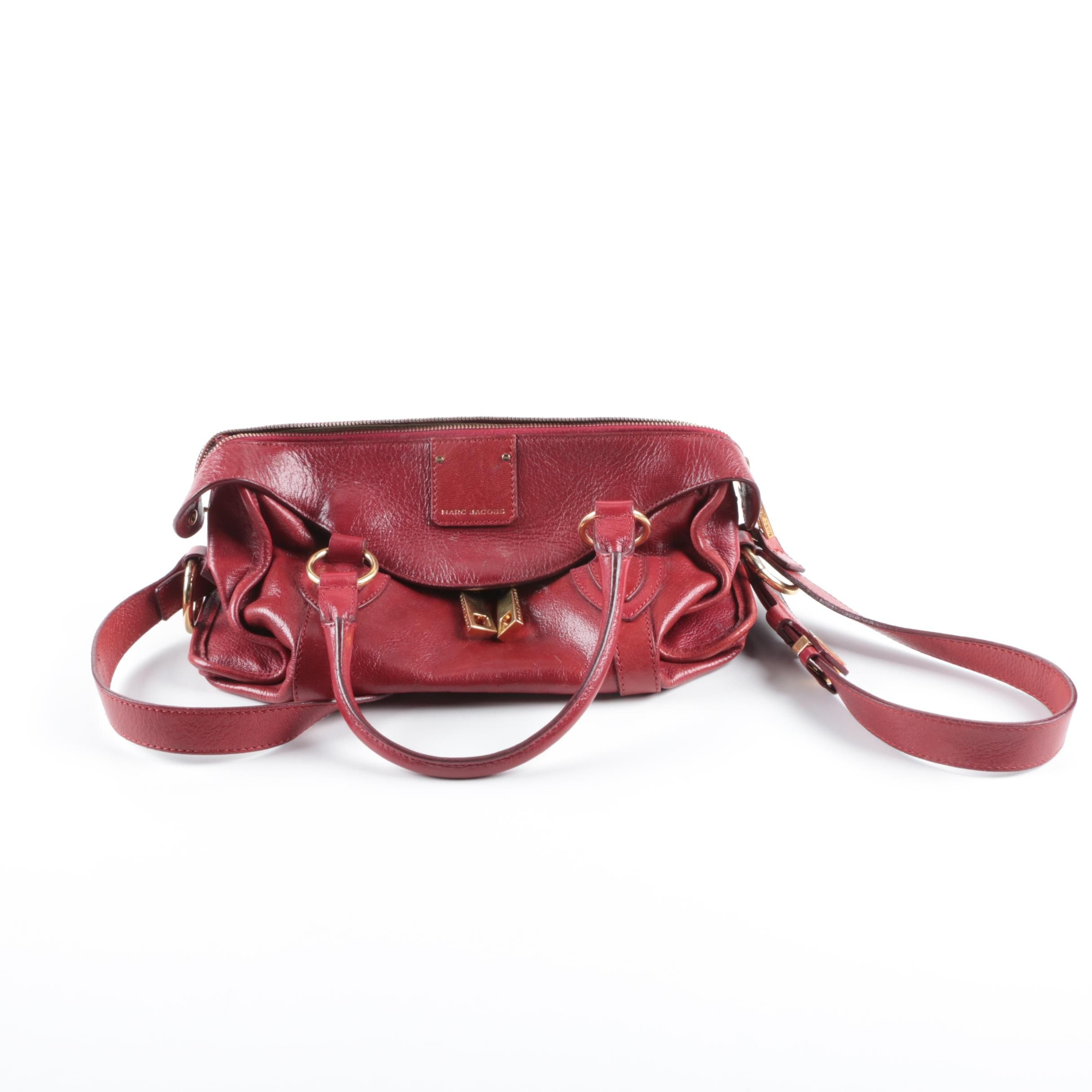 Marc Jacobs Red Leather Convertible Handbag