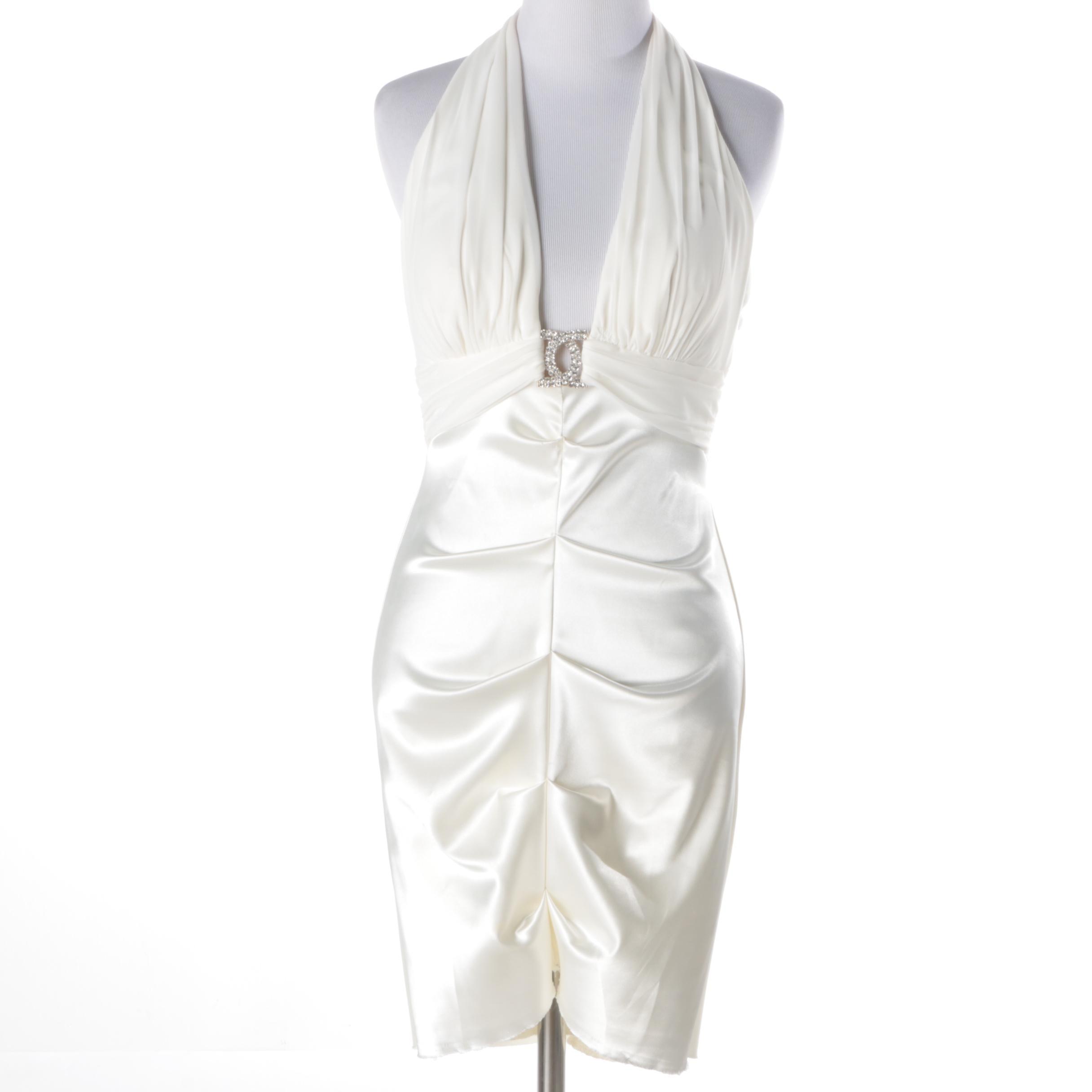 Cache White Halter Dress