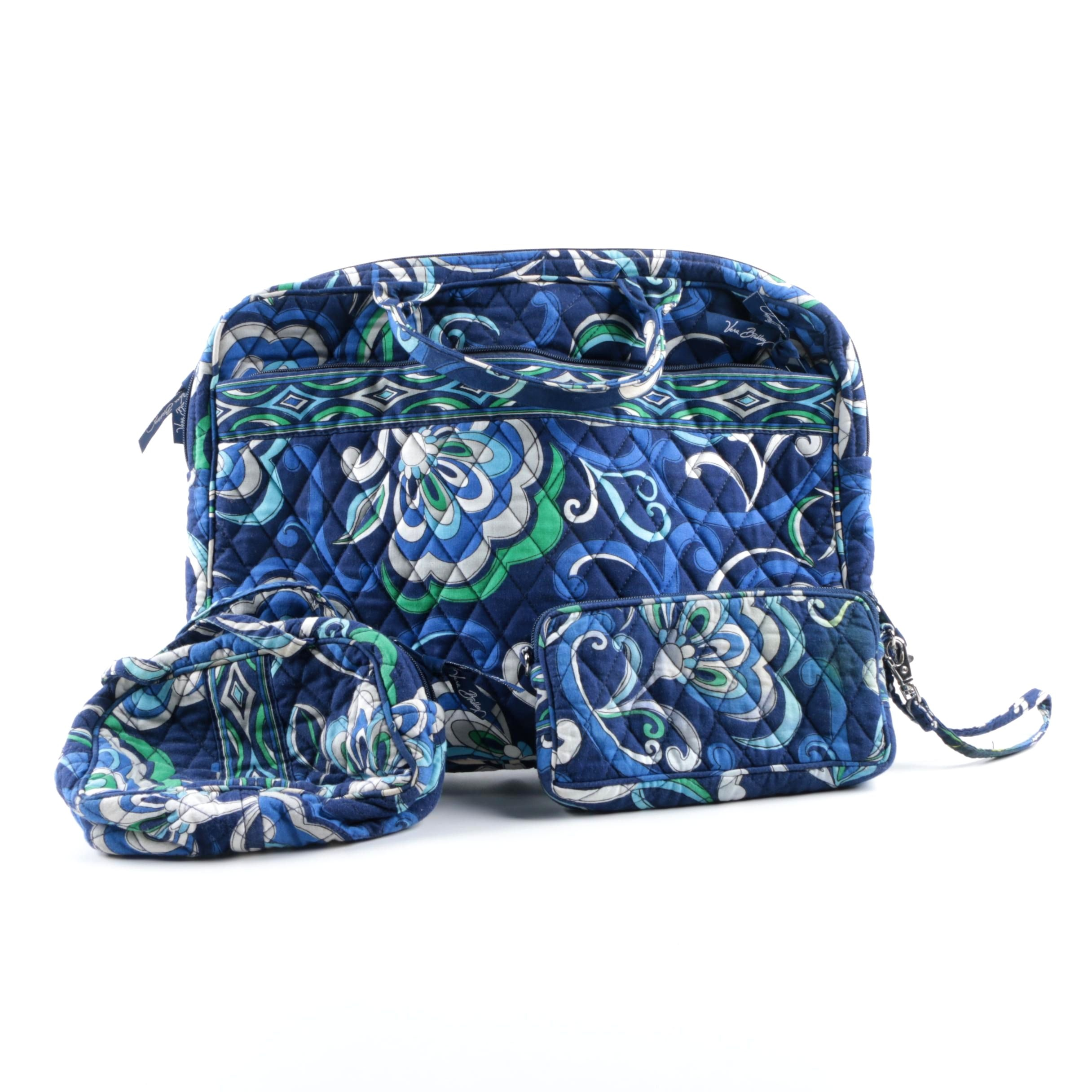 "Vera Bradley ""Mediterranean Blue"" Laptop Bag and Purses"