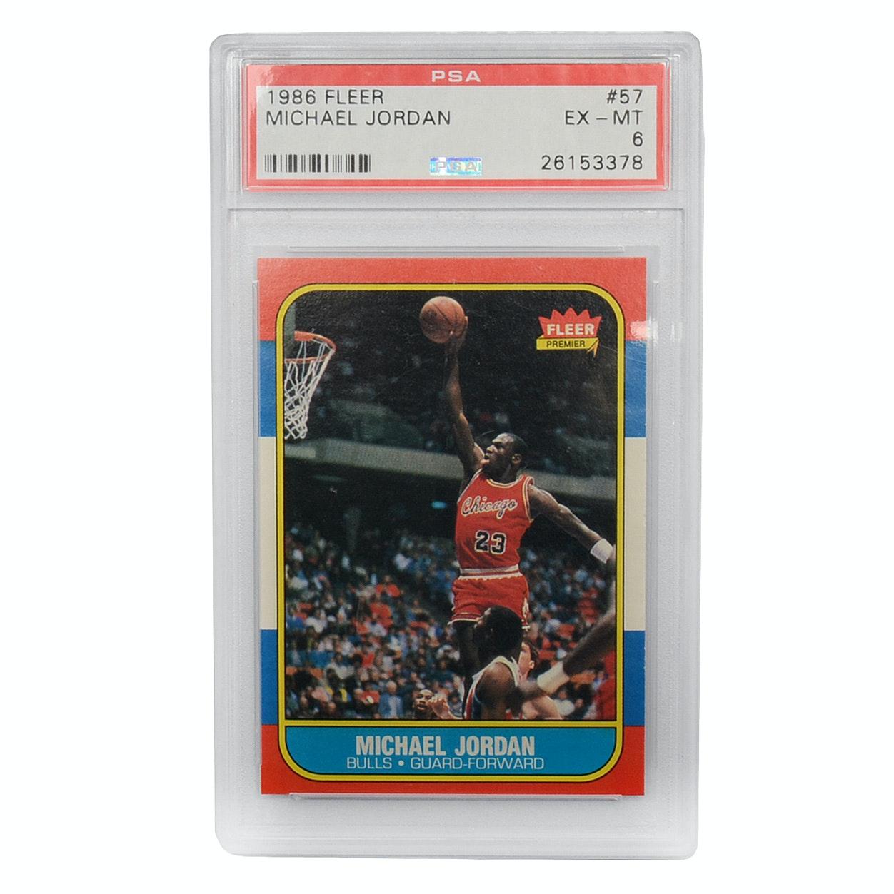 1986 Fleer Michael Jordan Graded Rookie Card