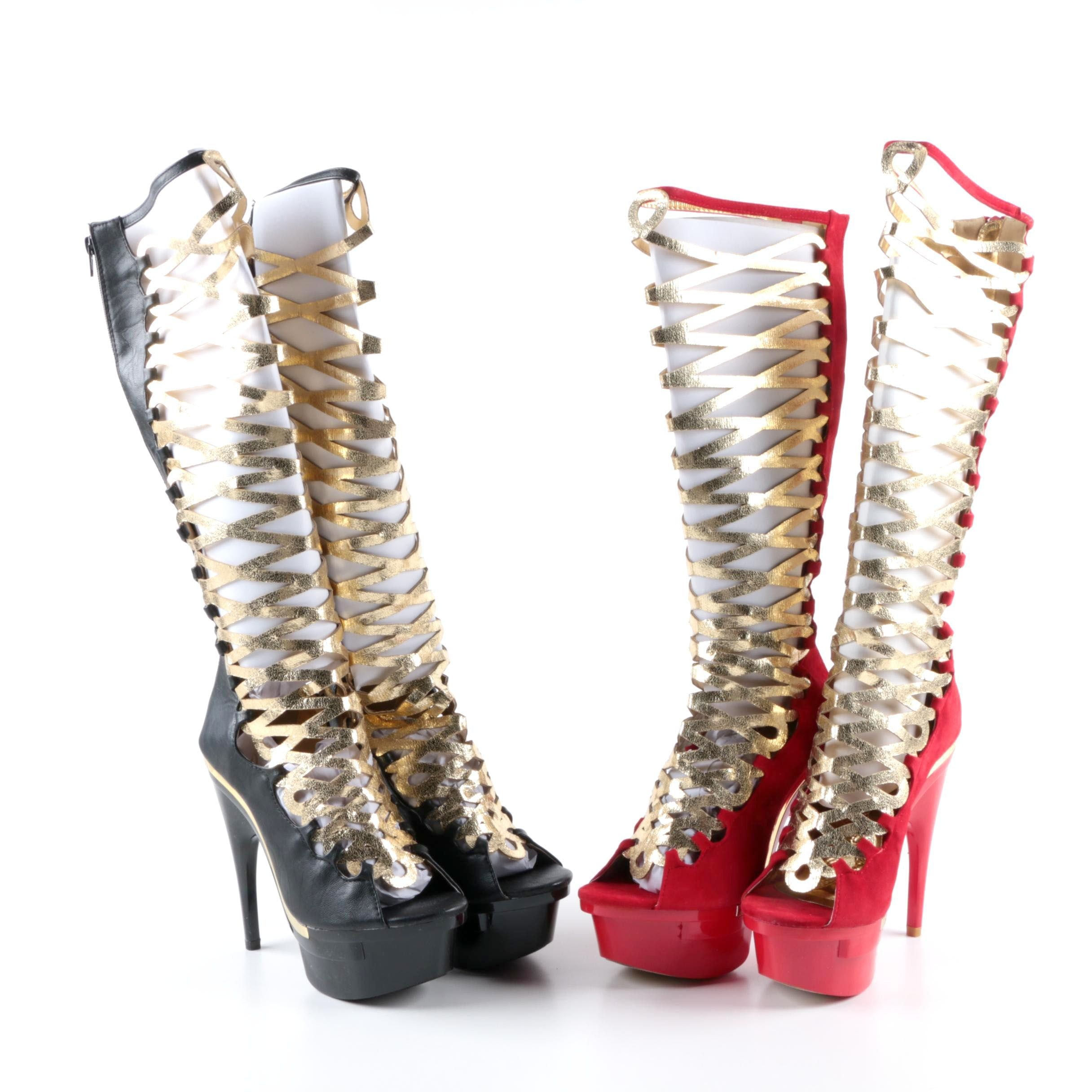 Mona Mia Collezione Itzamar Platform Statement Boots