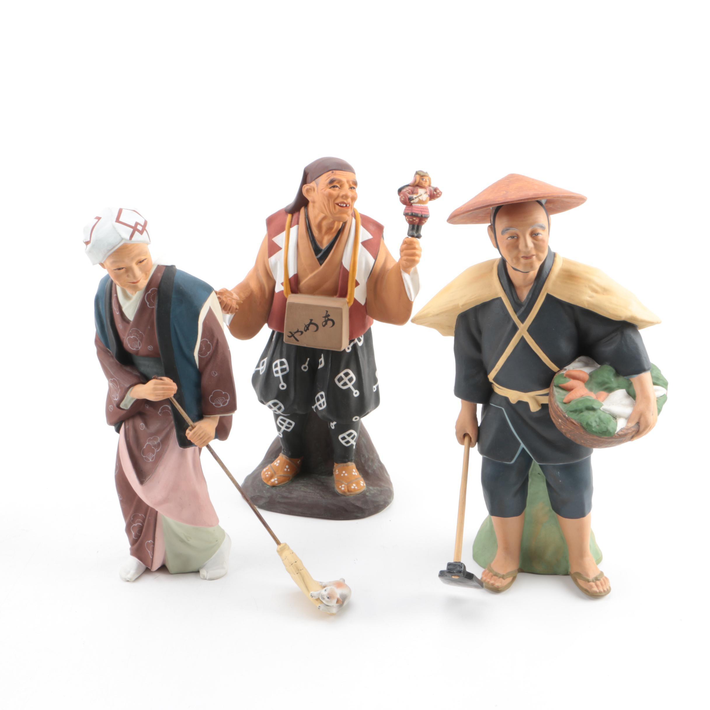 Japanese Hakata Urasaki Dolls