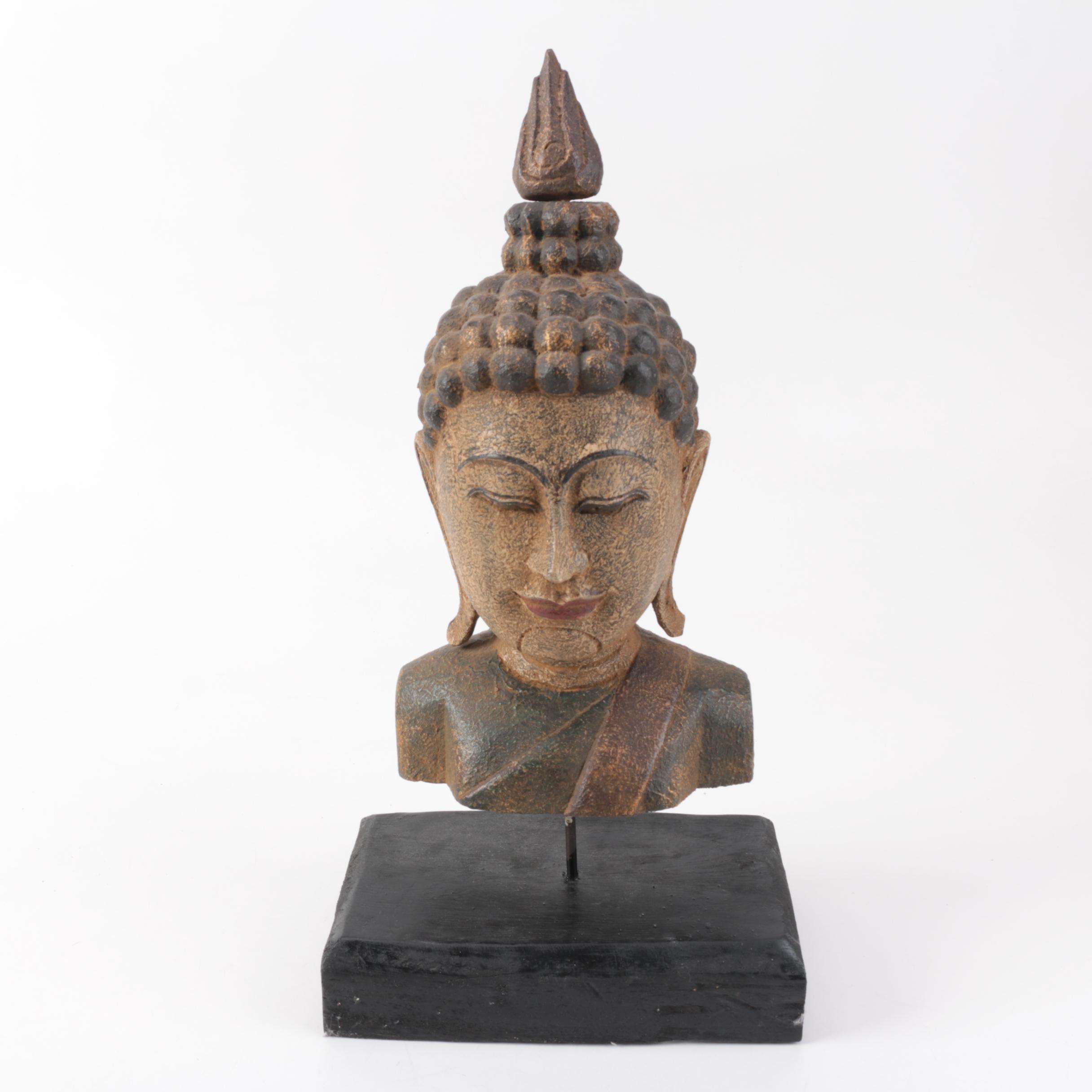Southeast Asian Style Bust of Buddha