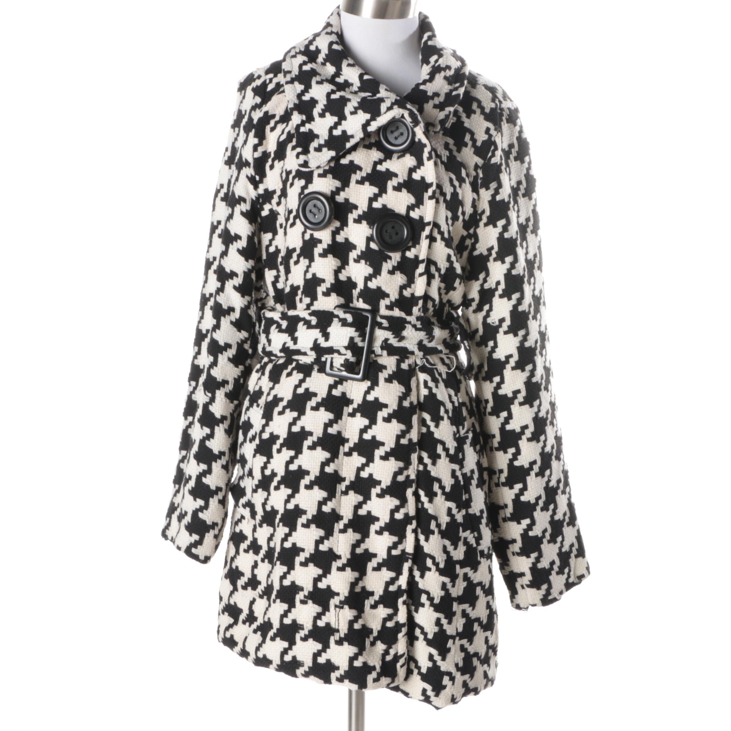 Women's Last Kiss Houndstooth Coat