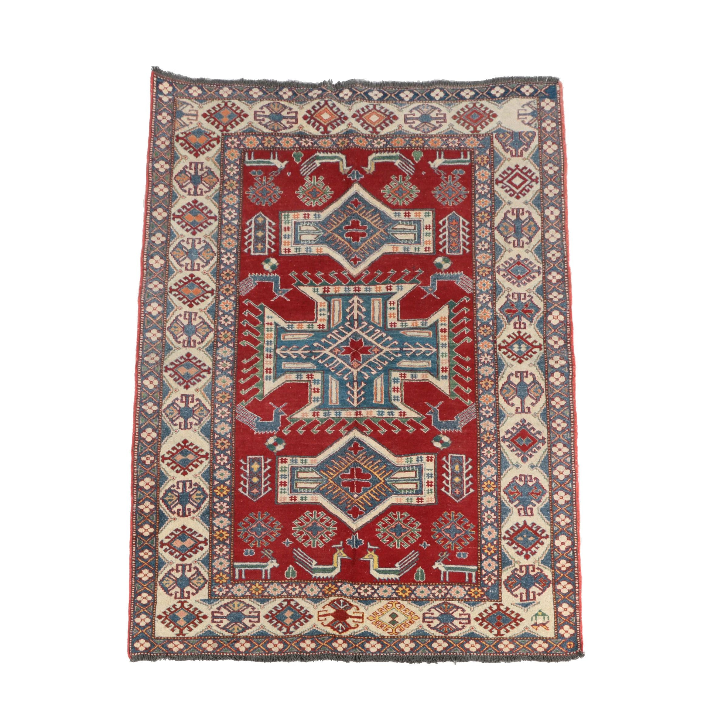 Hand-Knotted Contemporary Anatolian Wool Area Rug