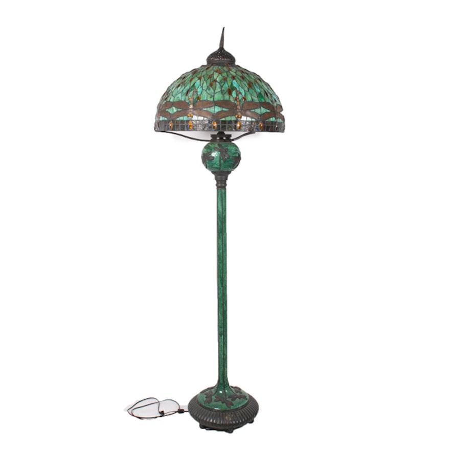 Tiffany Style Dragonfly Floor Lamp by JSW Studios : EBTH