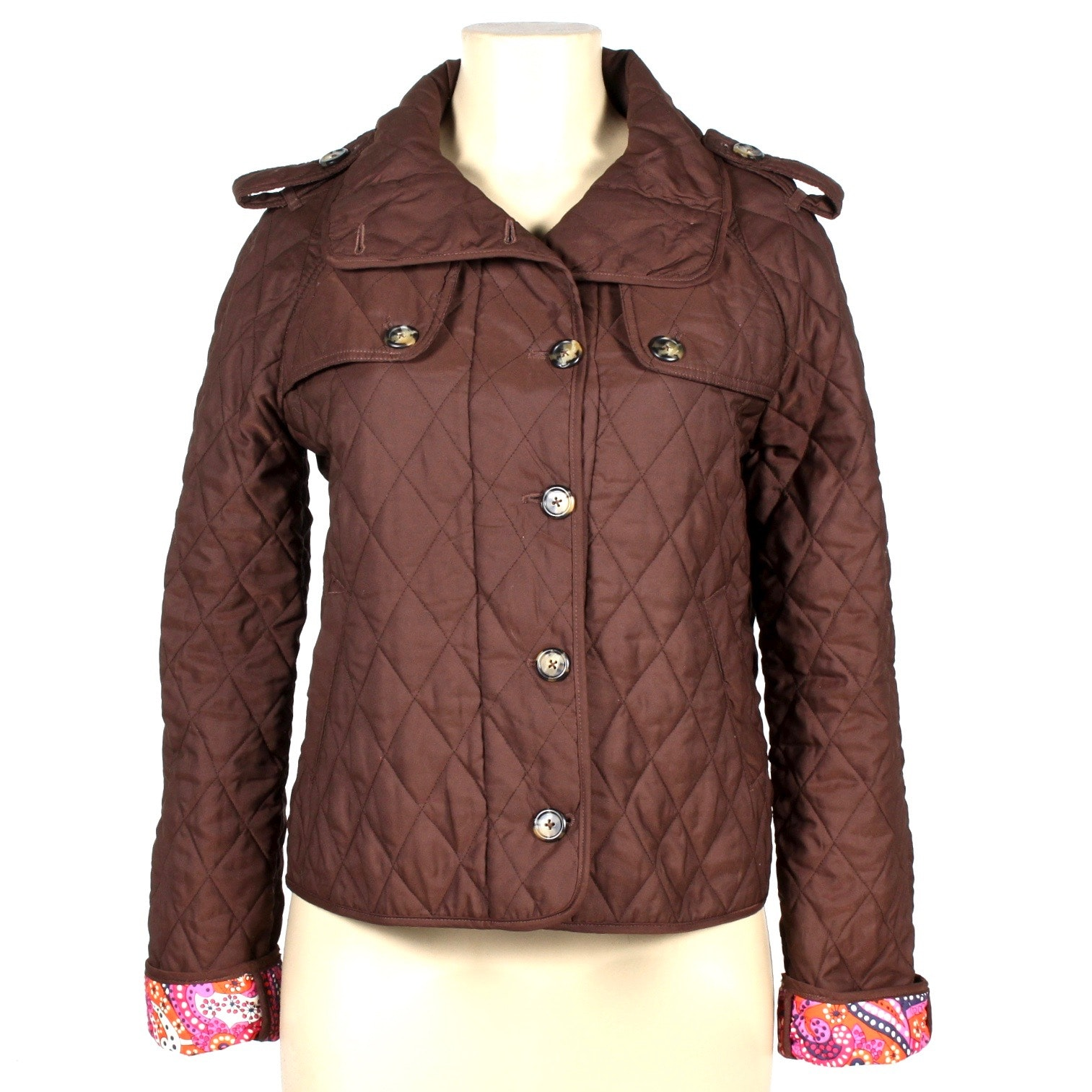 Lilly Pulitzer Brown Quilted Jacket