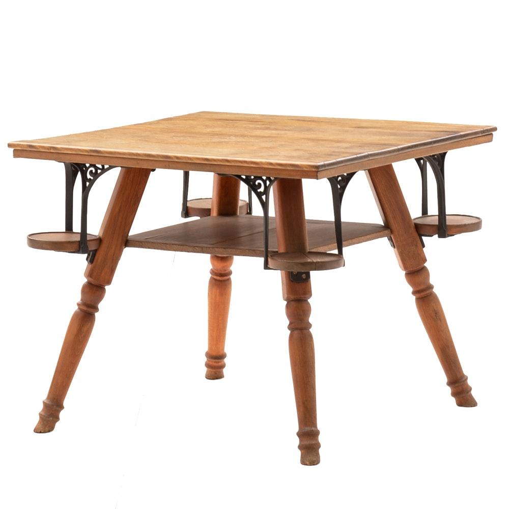 Vintage Rustic Game Table ...
