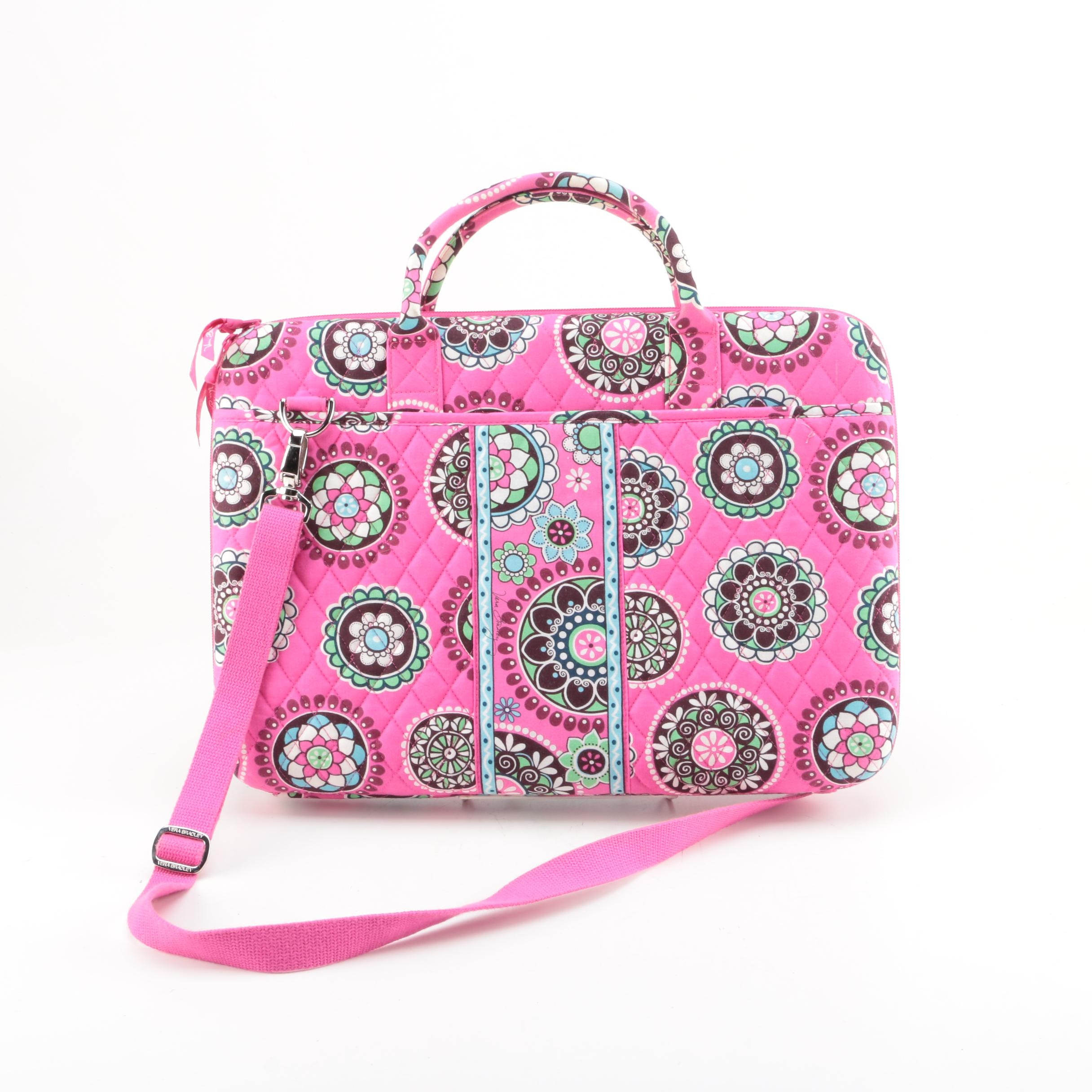Vera Bradley Cupcakes Pink Crossbody Laptop Bag