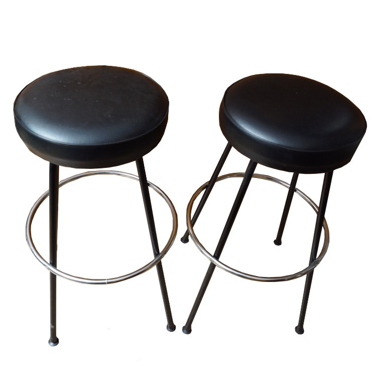 Pair of Industrial Style Counter Stools by Cosco Home Products