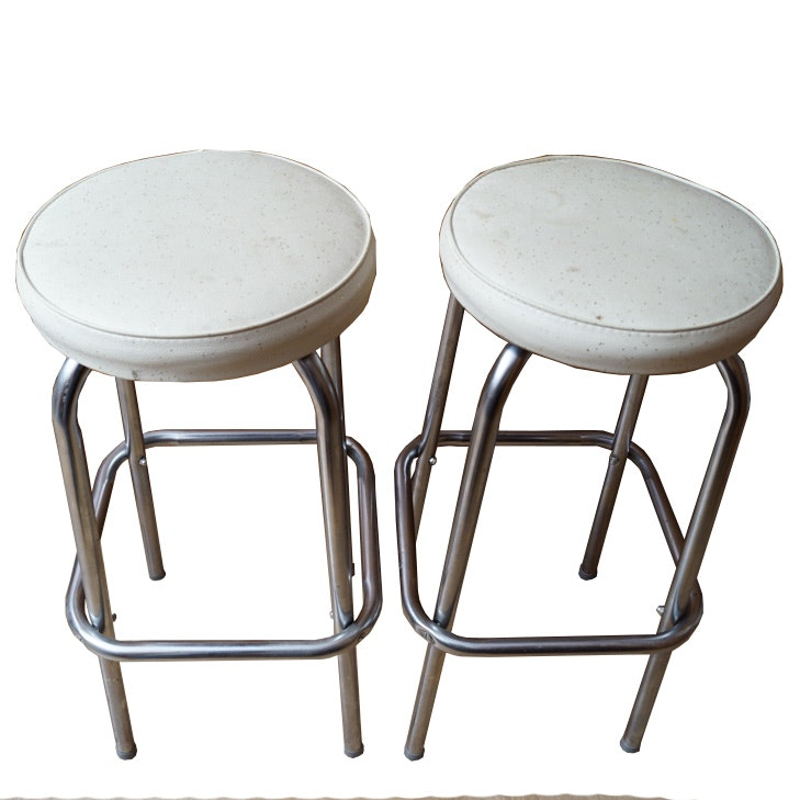 Pair of Vintage Counter Stools by Erie Seating Co.