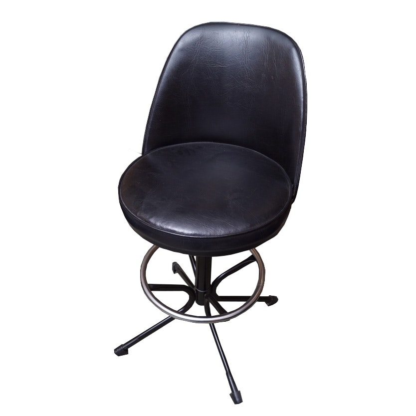 Vintage Mid Century Modern Swivel Base Accent Chair