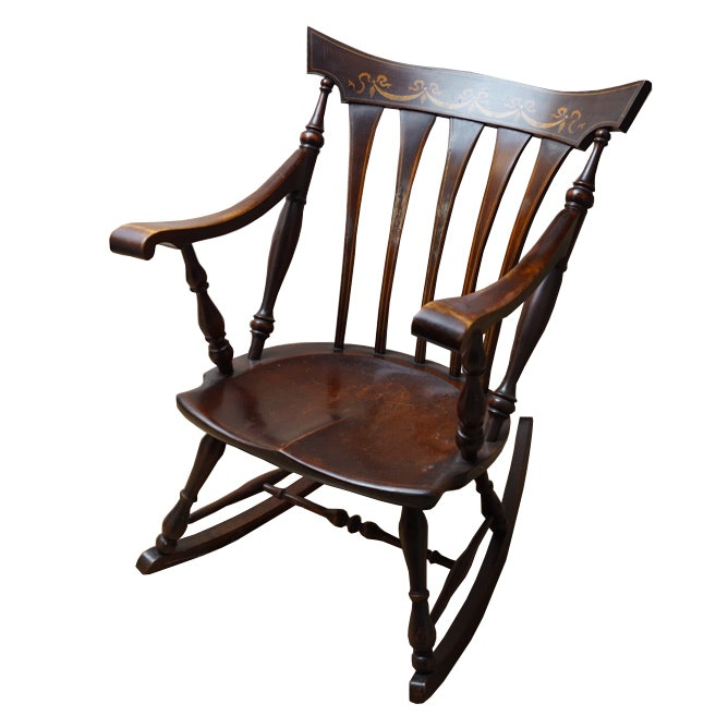 Vintage Sheraton Style Rocking Chair