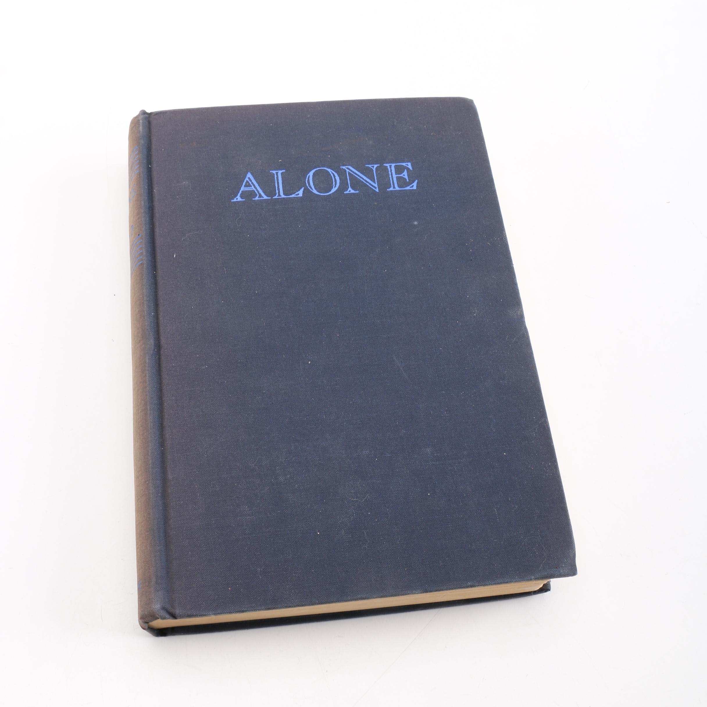"1938 ""Alone"" by Richard E. Byrd"