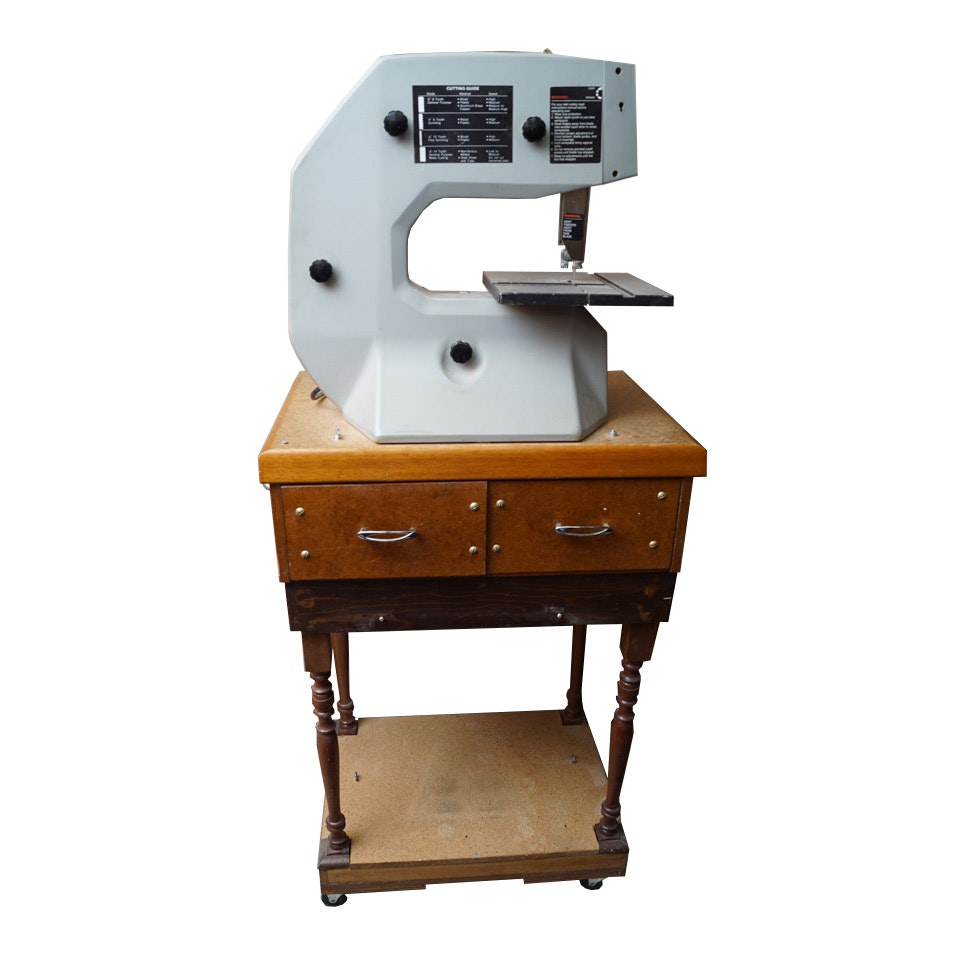 "Shopcraft 10"" Bandsaw on Rolling Table"