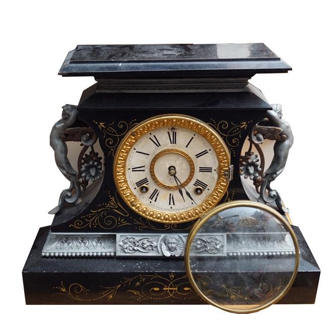 Antique Ansonia Belgium Mantel Clock