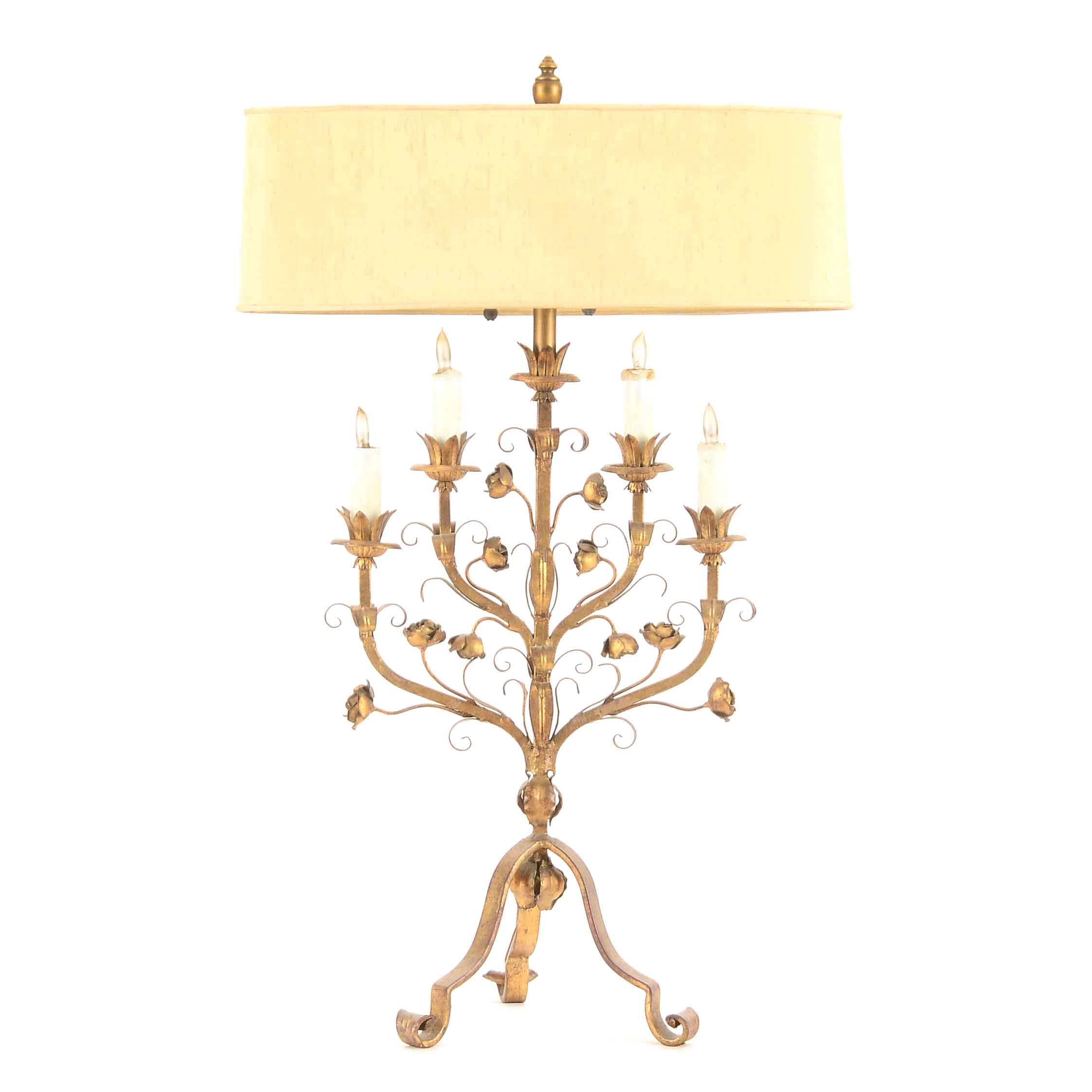 Vintage Candelabra Table Lamp