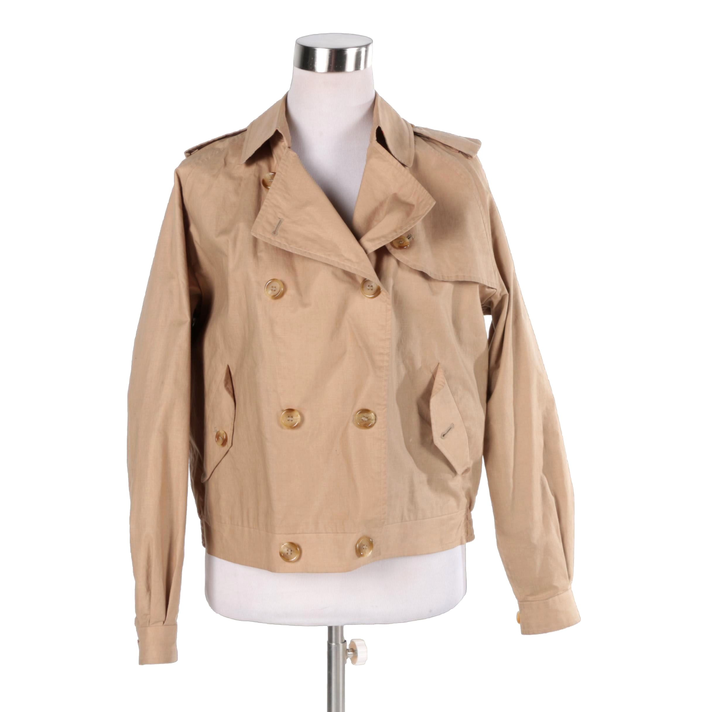 Women's Burberry Double-Breasted Cotton Jacket