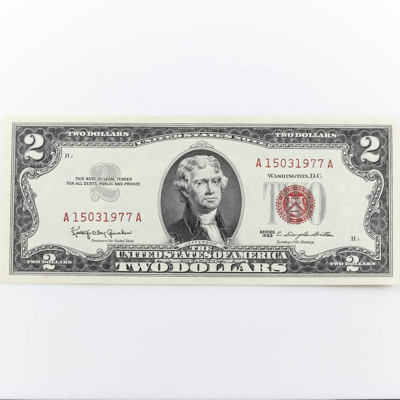 1963 $2 United States Currency Note