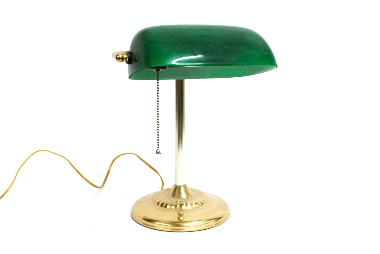 Emerald Shade Bankers Table Lamp
