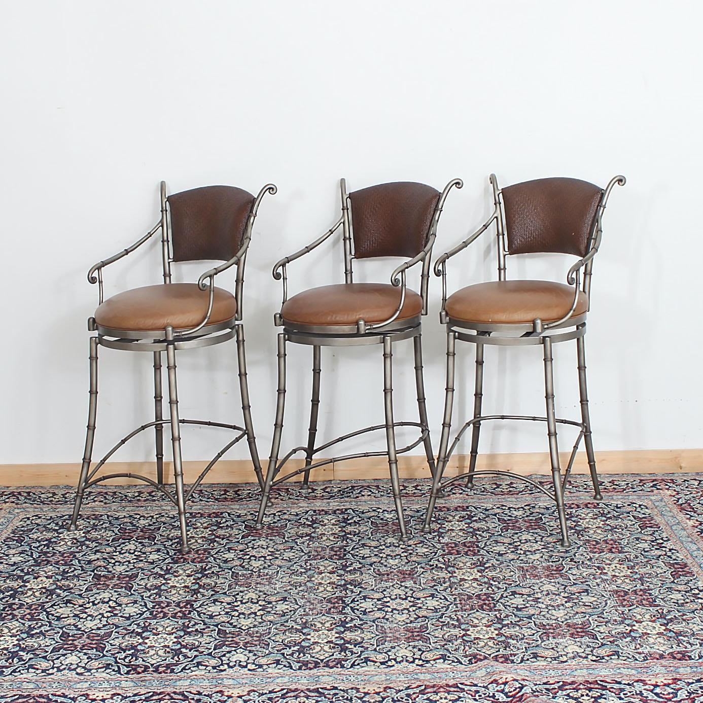 Three Contemporary Counter Stools