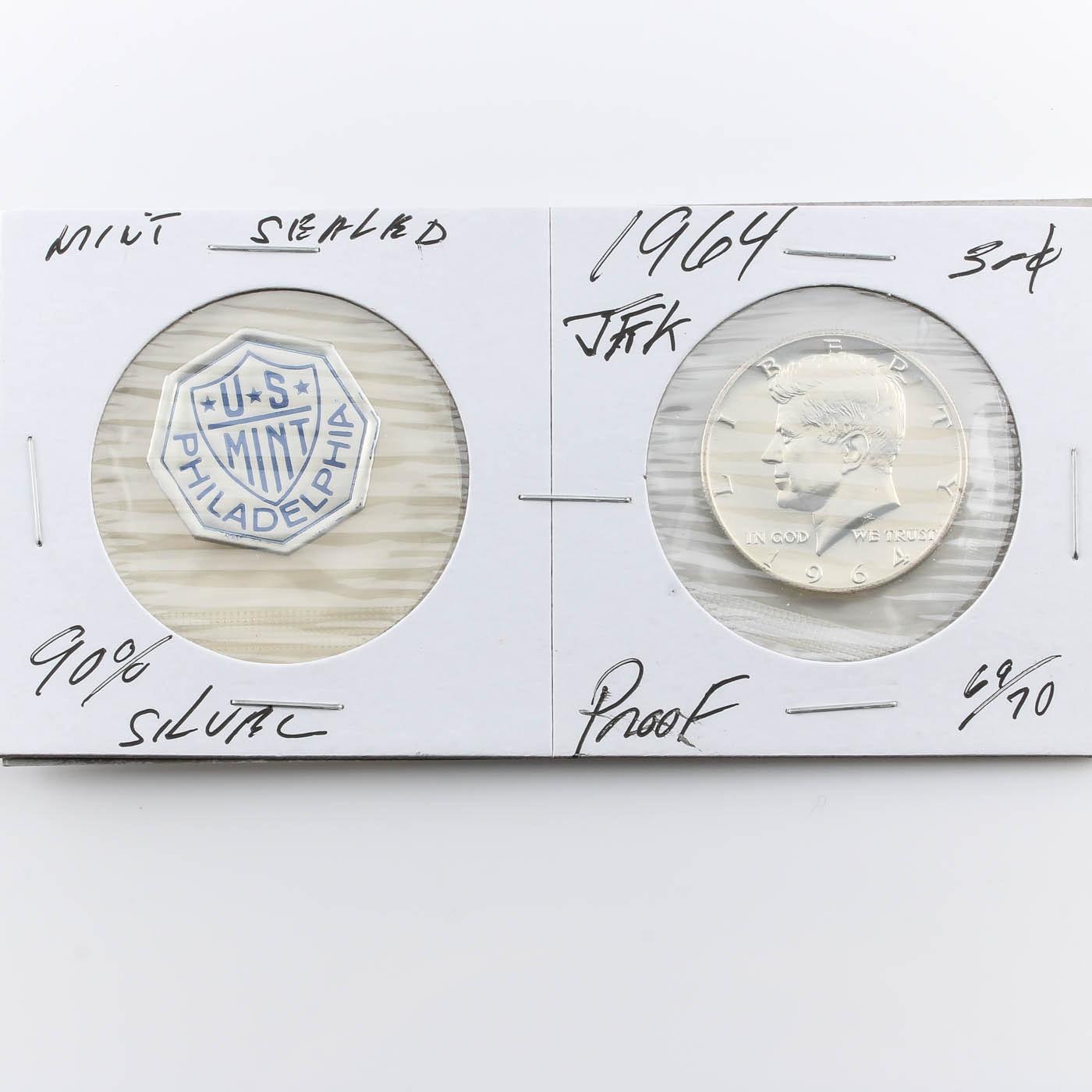 1964 JFK Silver Half Dollar Proof Coin