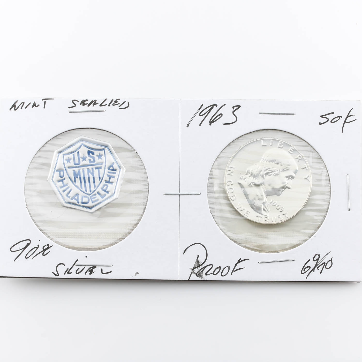 1963 Franklin Silver Half Dollar Proof Coin