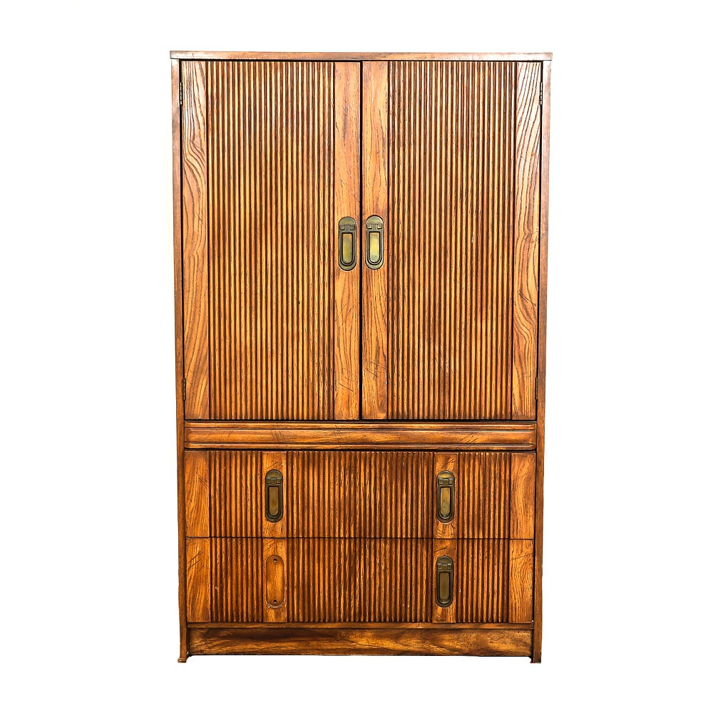 Vintage Oak Wardrobe by First Family of Armstrong
