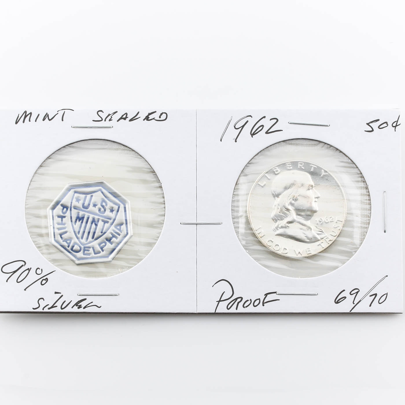 1962 Franklin Silver Half Dollar Proof Coin