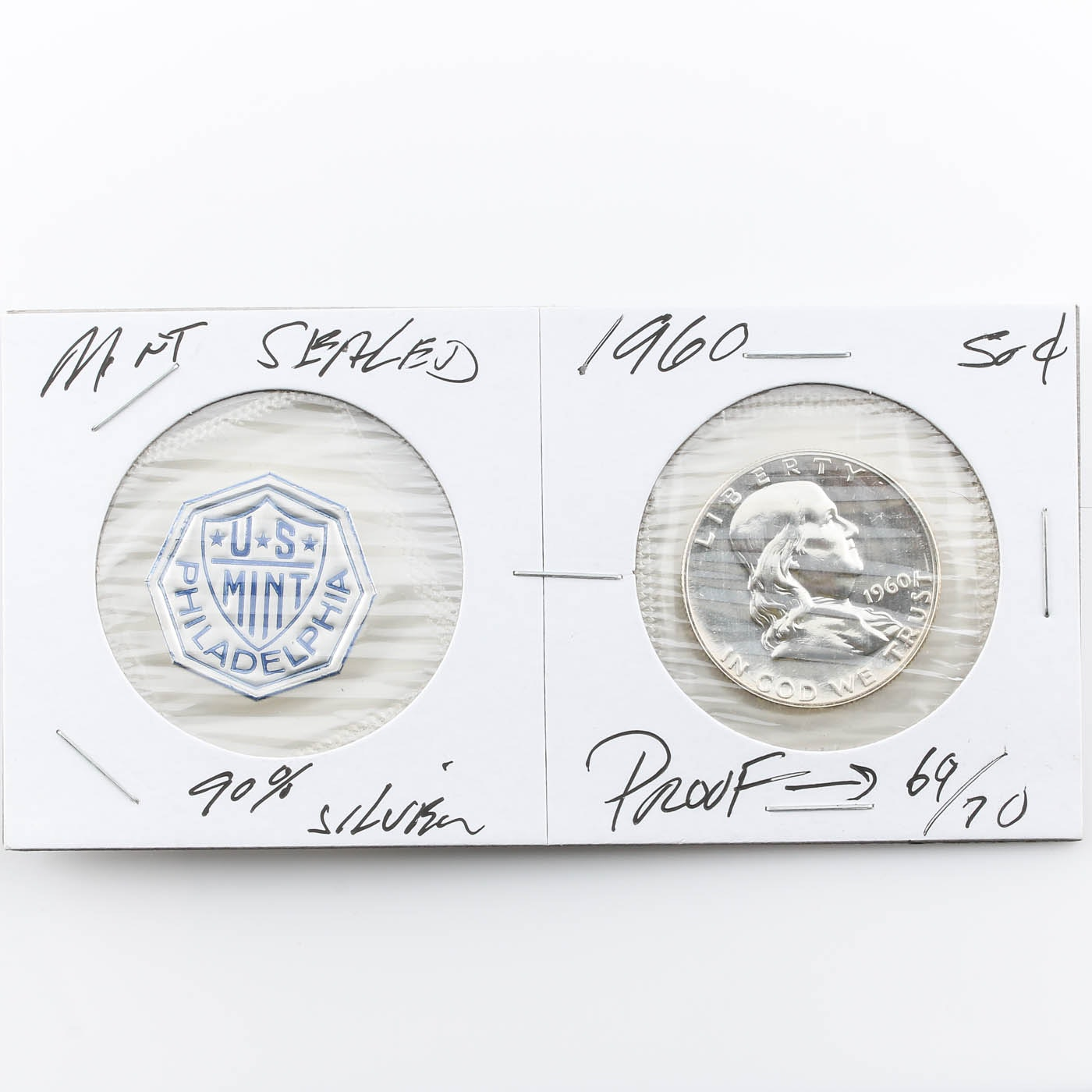 1960 Franklin Silver Half Dollar Proof Coin