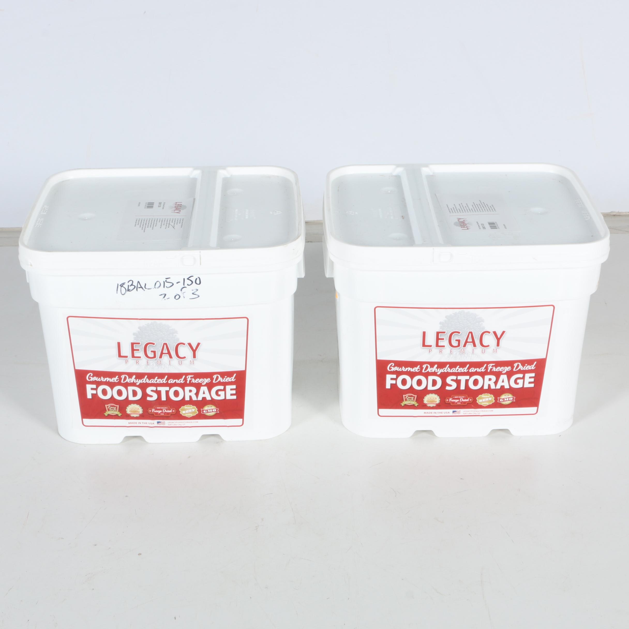 Legacy Premium Gourmet Dehyrdated and Freeze Dried Food Storage Containers ...  sc 1 st  EBTH.com & Legacy Premium Gourmet Dehyrdated and Freeze Dried Food Storage ...