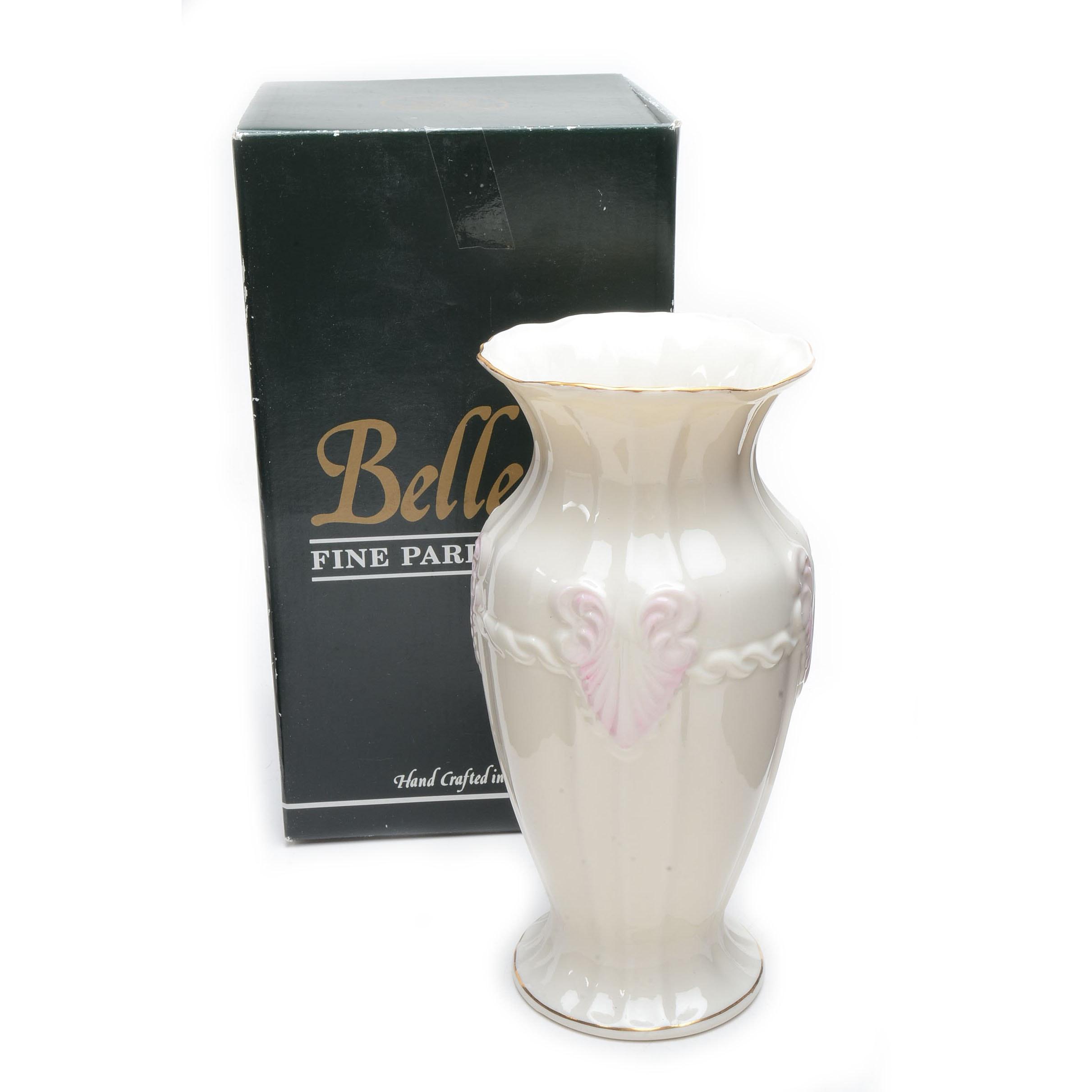 "Belleek ""Georgian Shell"" Vase"