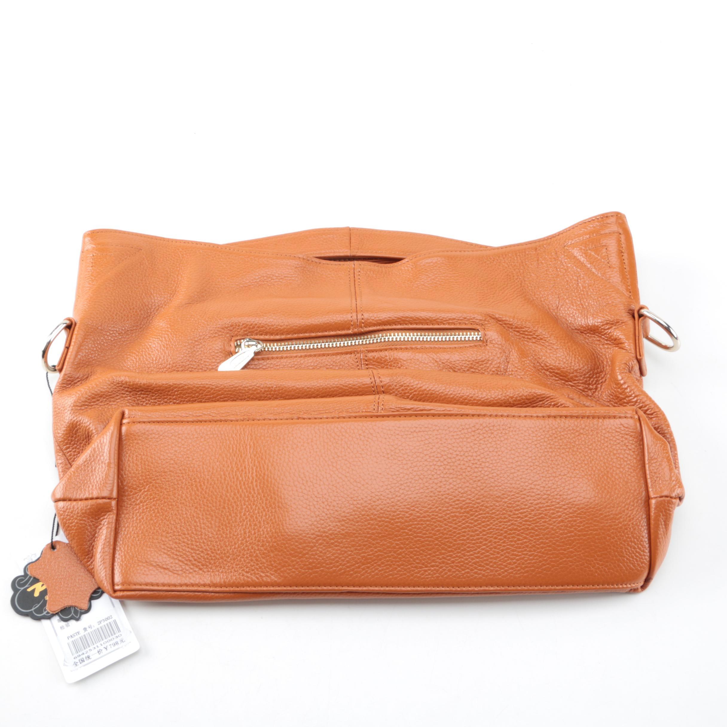 Paste Brown Leather Handbag