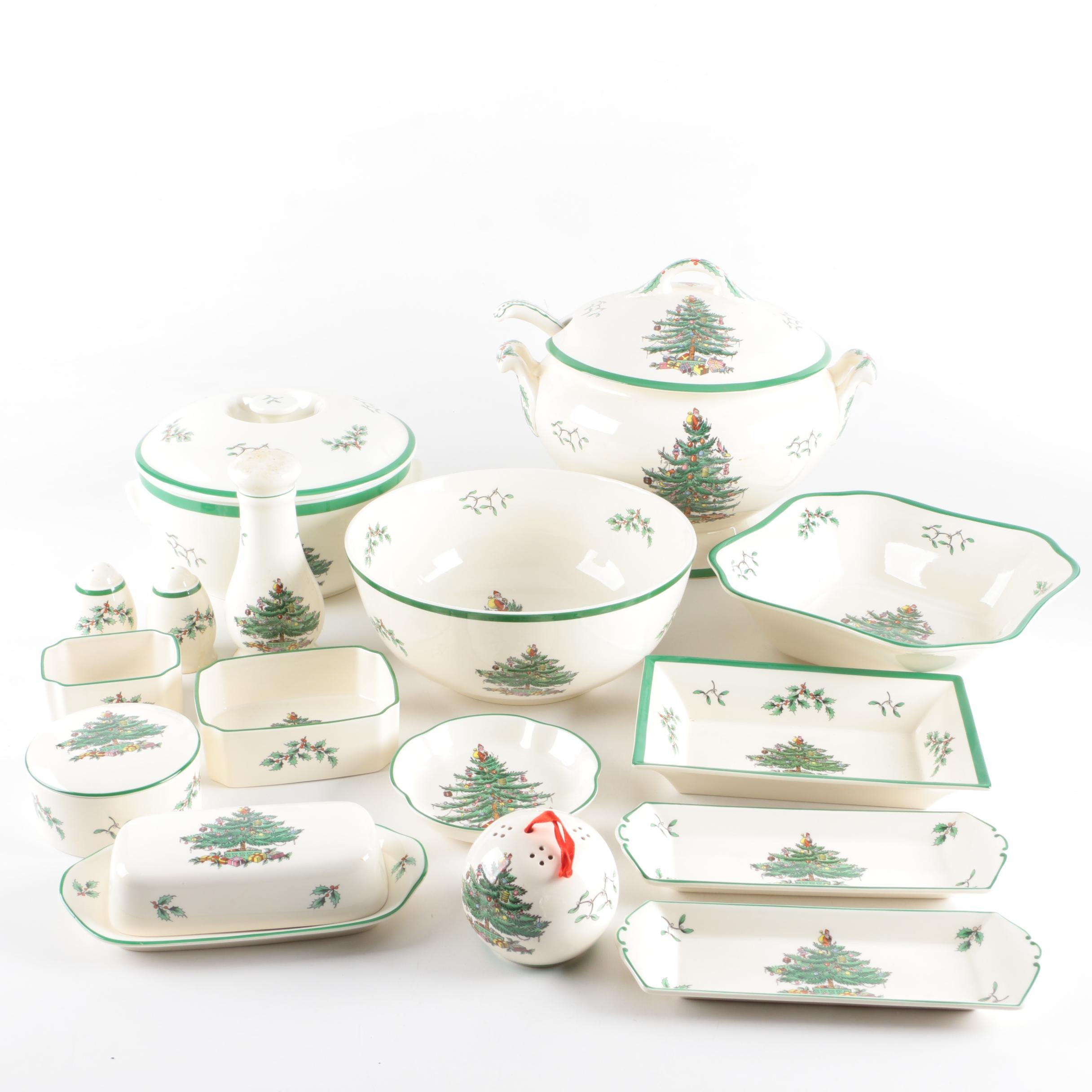 "Spode ""Chirstmas Tree"" Serving Ware"