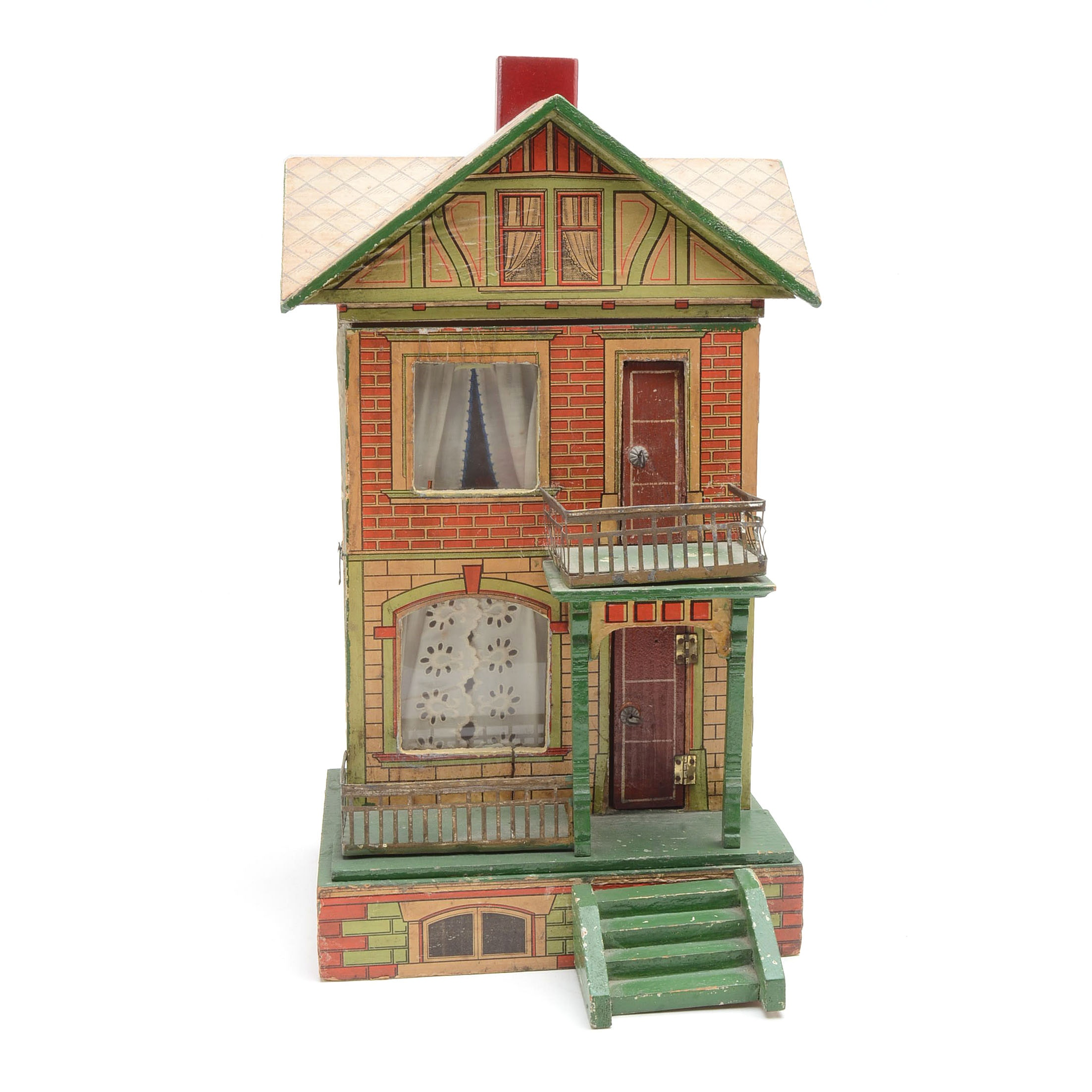 1900 Antique Moritz Gottschalk Dollhouse
