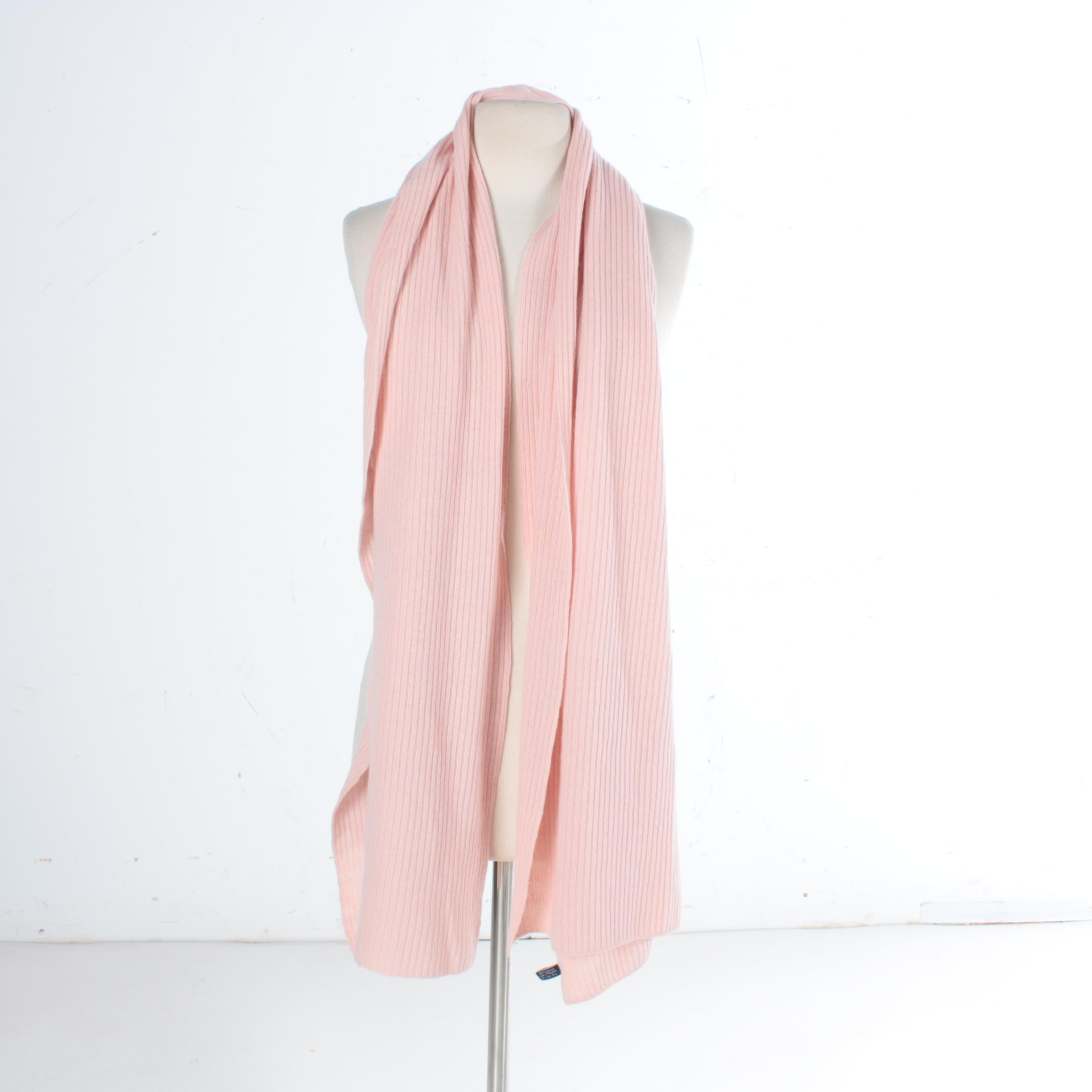 Ann Taylor Light Pink Cashmere Knit Scarf