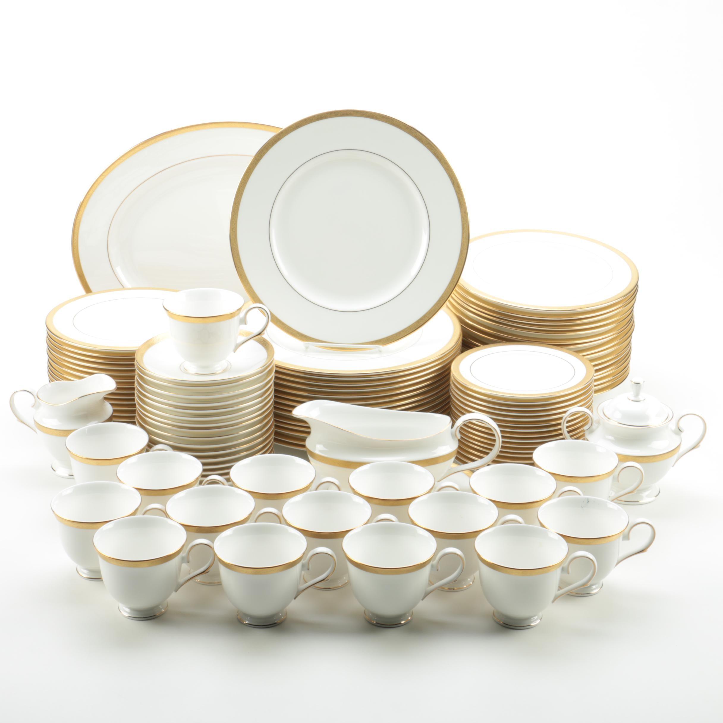 "Lenox ""Landmark Gold"" Bone China Tableware"