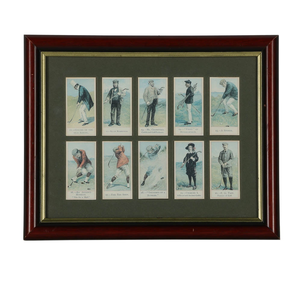 Cope's Tobacco Offset Lithograph Golf Cards