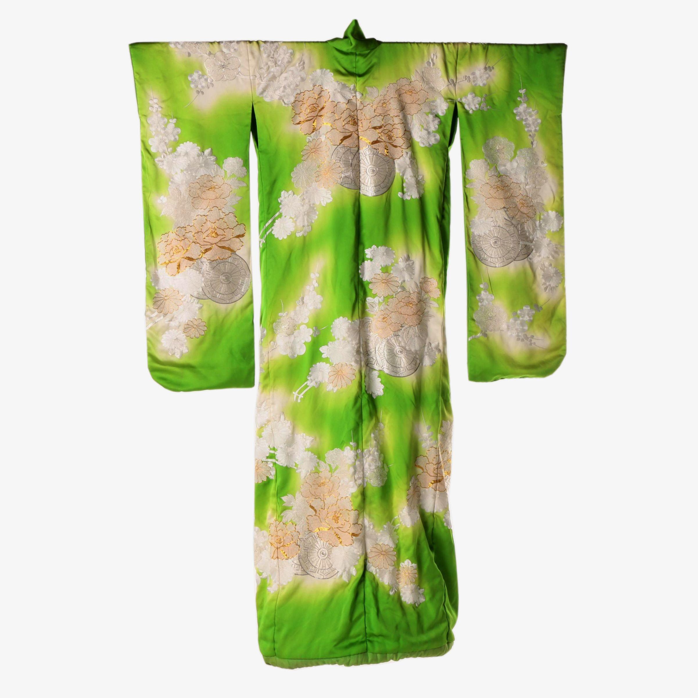 Japanese Hand Embroidered Silk Uchikake Kimono