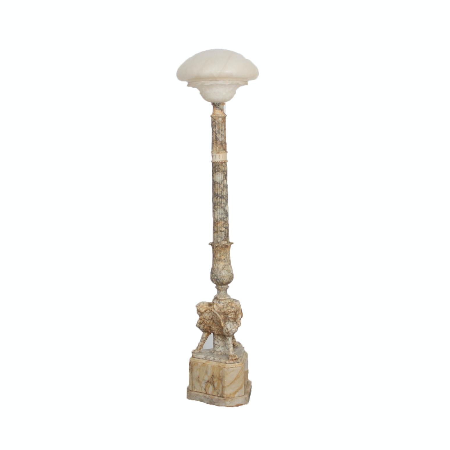 Stone Column Style Floor Lamp