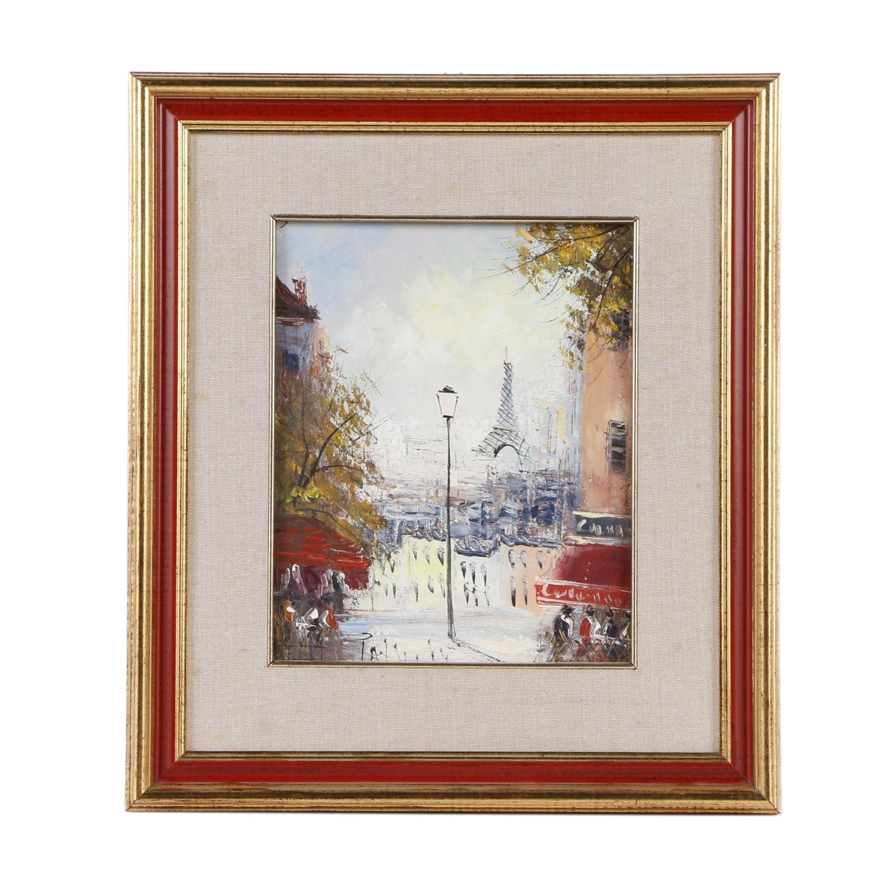 20th Century Oil Painting of Paris