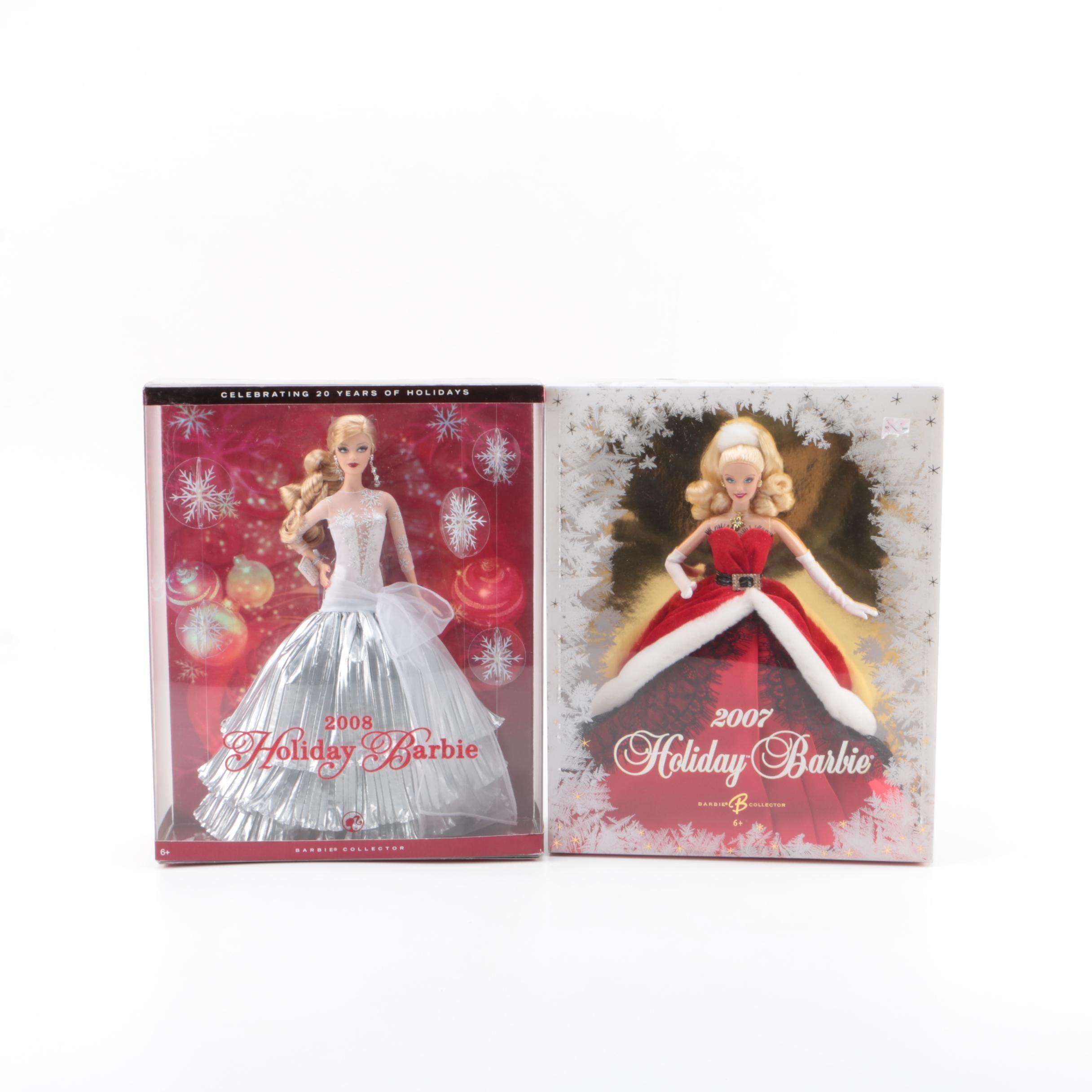 "2000s Mattel ""Holiday Barbie"" Dolls"