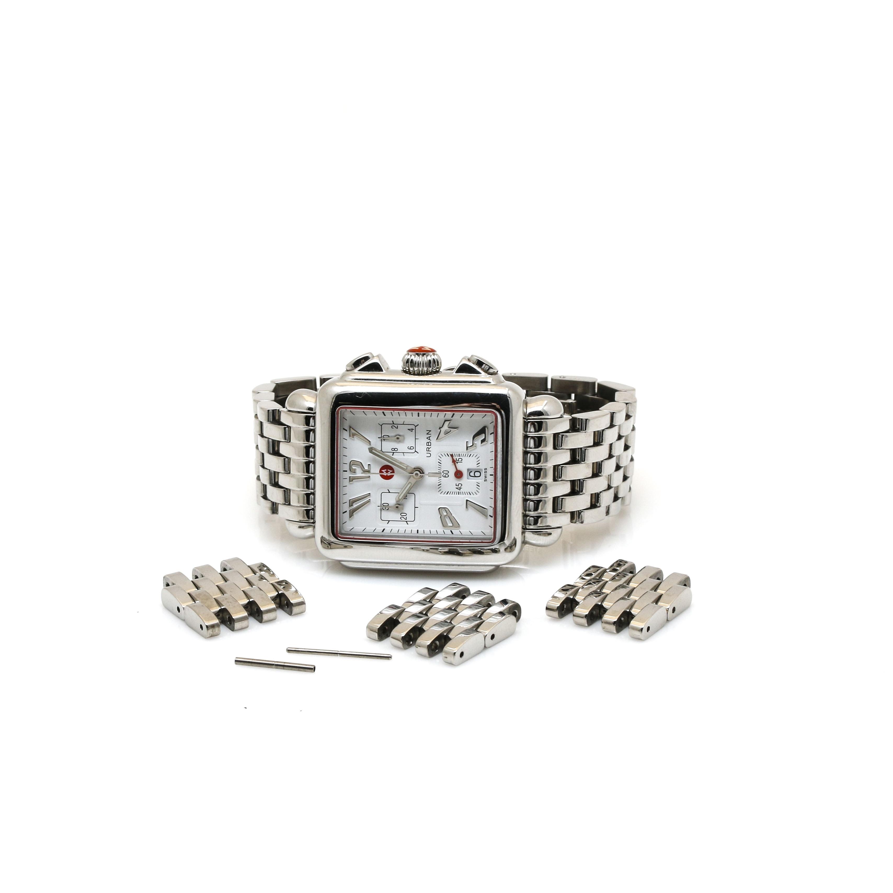 Michele Urban Stainless Steel Wristwatch