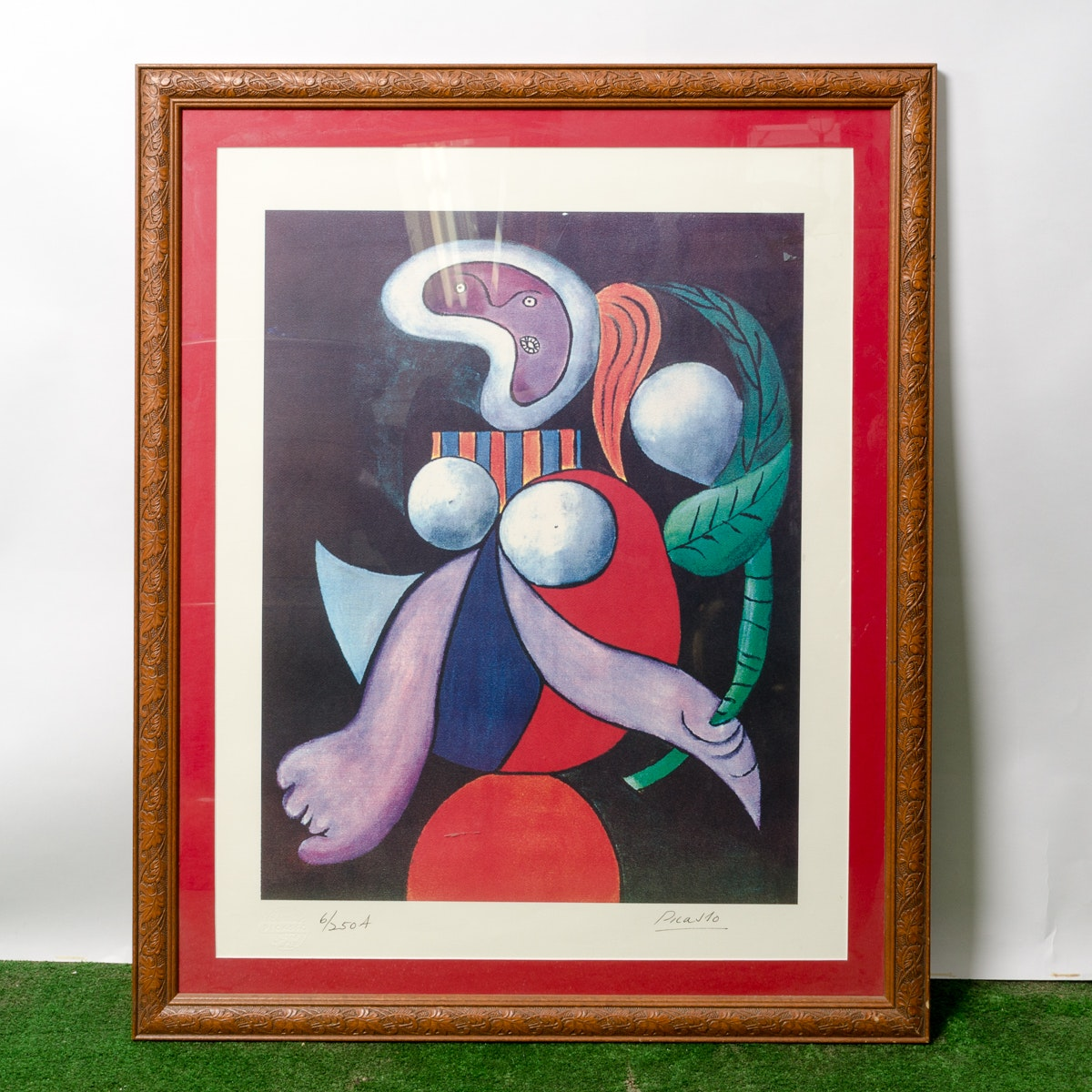 "Framed Reproduction Art Print after Picasso's ""Woman With a Flower"""