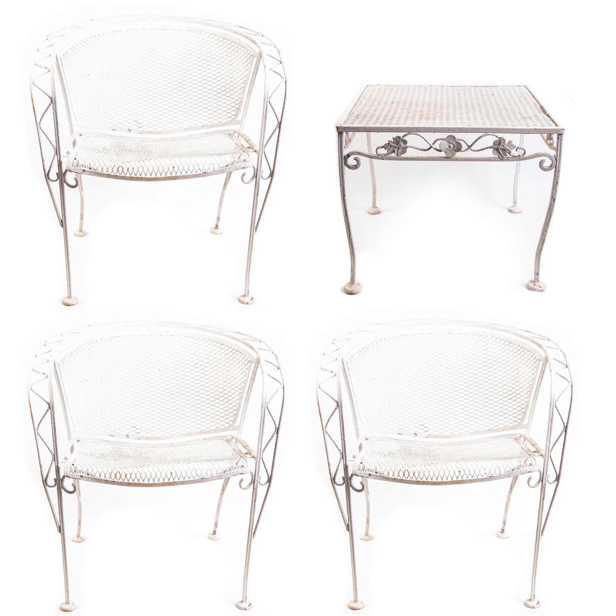 Vintage Mid Century Patio Furniture Set Ebth