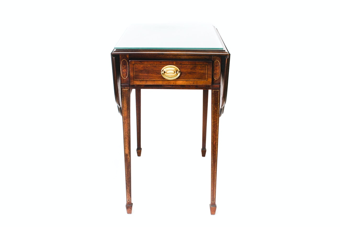 Pembroke-Style Drop-Leaf End Table by Heritage